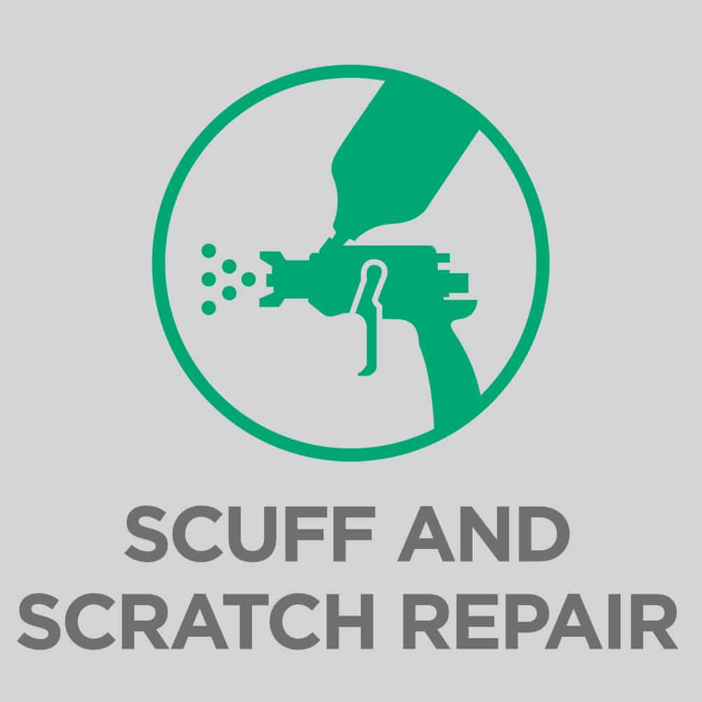 Paint scuff and scratch repair
