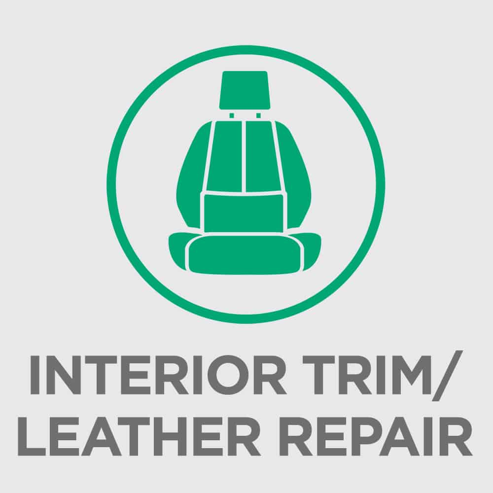 Interior car repair on leather and dashboards